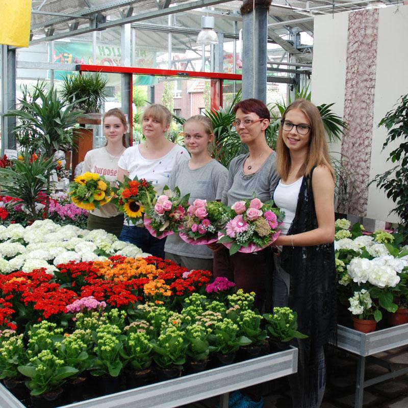 Auszubildende Floristik und Gärtnerei 2017